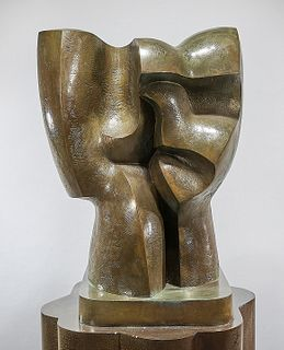 Patinated Bronze Sculpture by Vildziunas