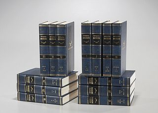 Group of Encyclopedia Americana Books