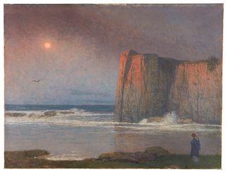 Jakob Schikaneder (Czech 1855-1924), , The Calm Sea, Nocturne