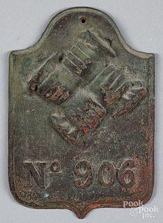Philadelphia Contributionship bronze firemark