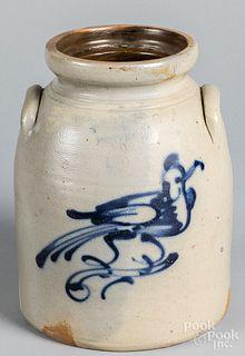 West Troy, New York Pottery stoneware crock