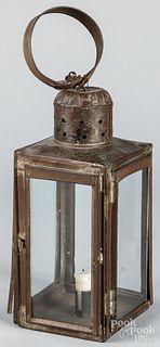 Tin carry lantern, 19th c.