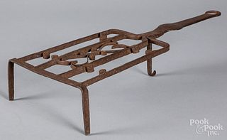 Wrought iron trivet, early 19th c.