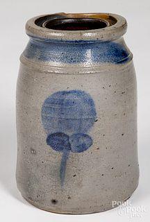 Western Pennsylvania stoneware canning jar, 19th