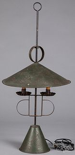 Painted tin table lamp 20th c.