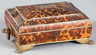 Tortoiseshell sewing box, 19th c.