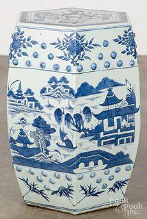 Chinese export porcelain Canton garden seat