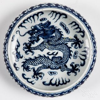 Chinese Qing dynasty porcelain dragon bowl