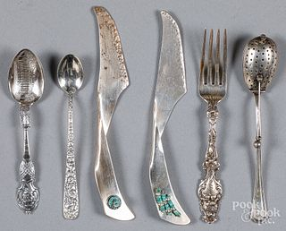 Sterling silver flatware, 6.4 ozt.