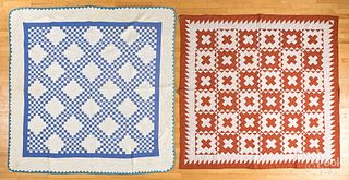 Two pieced quilts, early 20th c.