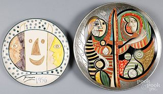 Two Picasso porcelain chargers