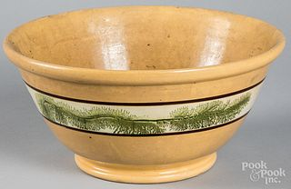 Large yellowware mixing bowl