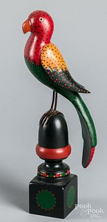 Don Noyes carved and painted parrot