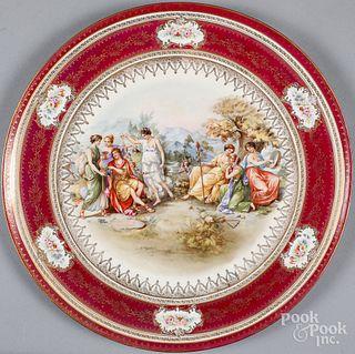 Dresden porcelain charger