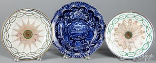 Limoges States plate, late 19th c., etc.