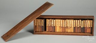 Cased set of wood samples, late 19th c.