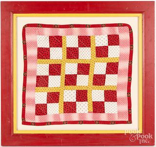 Pieced doll quilt, ca. 1900