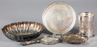 Two sterling silver dishes 9.4ozt. etc.