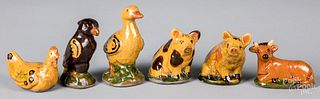 Six Shooner redware animals