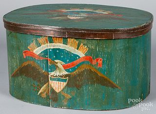 Painted bentwood box, 19th c.