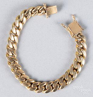 14K gold bracelet, 53.5 dwt.