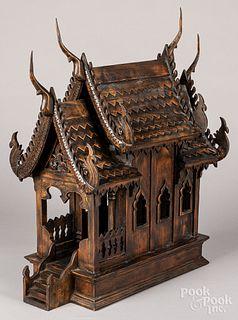Thailand wood spirit house