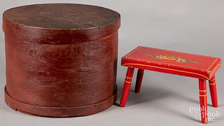 "Painted bentwood band box, 11 3/4"" h., 16"" w., to"