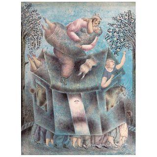 "MAXIMINO JAVIER, Untitled, Signed, Aquatint etching 5/ 50, 31.4 x 23.6"" (80 x 60 cm)"