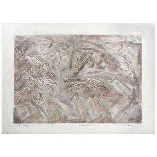 "FRANCISCO TOLEDO , Cocodrilos II, Signed, Lithograph on Japanese paper Estado II VI / XXII, 16.9 x 20.8"" (43 x 53 cm)"