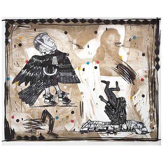 "DEMIÁN FLORES, Untitled, Signed, Lithograph 19 / 20, 34.2 x 45.2"" (87 x 115 cm)"