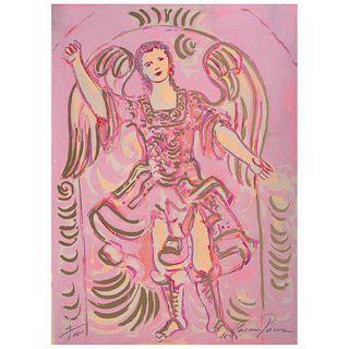 """CARMEN PARRA, San Miguel, Signed, Serigraphy 4 / 30, 13.7 x 10"""" (35 x 25.5 cm)"""