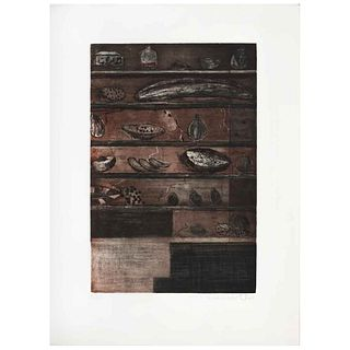 """ROBERTO TURNBULL, Untitled, Signed and dated 96, Aquatint etching a la poupeé 53 / 60, 15.3 x 10.2"""" (39 x 26 cm)"""