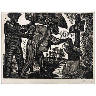 """LEOPOLDO MÉNDEZ, Untitled, Signed, Lithograph 10 / 20, 8.6 x 11.8"""" (22 x 30 cm)"""
