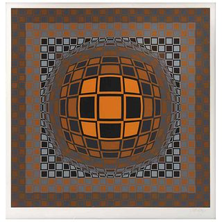 "VICTOR VASARELY, Vega, 1980, Signed, Serigraphy without print number, 25.5 x 25.5"" (65 x 65 cm)"