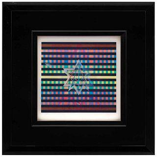 """YAACOV AGAM, Star of David, Signed, Agamograph 81 / 99, 25.5 x 25.5"""" (65 x 65 cm)"""