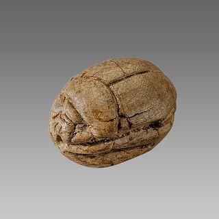 Ancient Egyptian Steatite stone Scarab c.1500-1100 BCE.