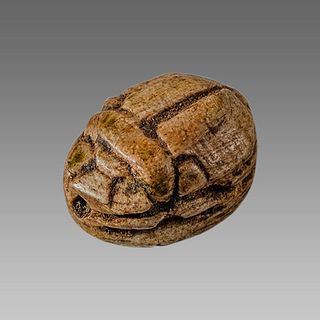 Ancient Egyptian Steatite stone Scarab c.1500-1100 BCE.