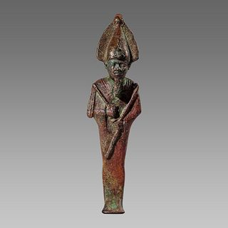 Ancient Egyptian Bronze Osiris Figure c.664-30 BCE.