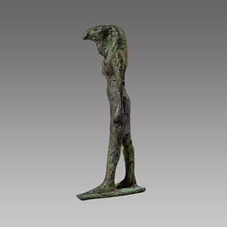 Ancient EGYPTIAN BRONZE THOTH LATE PERIOD, 25TH-26TH DYNASTY, 712-525 B.C.