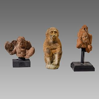 Lot of 3 Ancient Egyptian ALexandria Terracotta figure c.1st century AD.