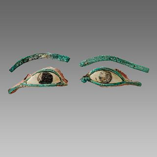 Ancient Egyptian Bronze Eyes Ca. 1000-300 B.C.