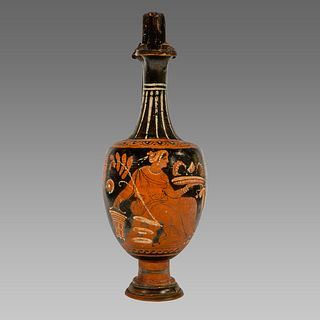 Ancient Greek Apulian Red-figured Trefoil Oinochoe c. 350 B.C.