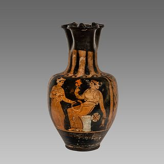 Ancient Greek Apulian Red-figured Trefoil Oinochoe (Jug) c. 350 B.C.