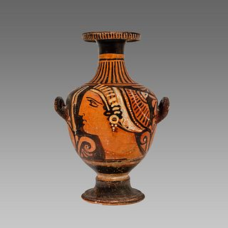Ancient Greek Apulian Red-figured Hydria c. 350 B.C.