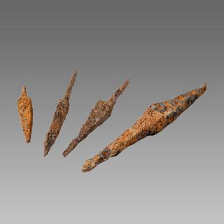Lot of 4 Ancient Greek Iron Arrow heads c.2nd century BC.