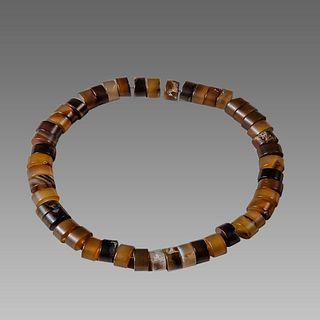 Antique Agate Bead Necklace.