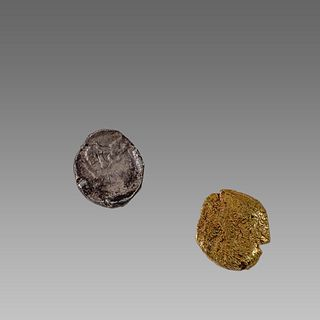 Lot of 2 Ancient Greek Silver Coins obols c.3rd-2nd century BC.