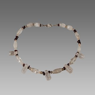 Roman Style Rock Crystal Beads Necklace.