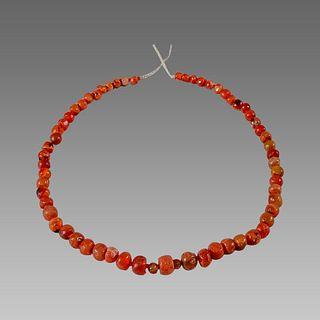 Roman Style Carnelian Beads Necklace.