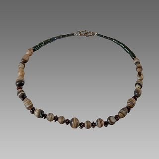 Roman Style Banded Agate Beads Necklace.